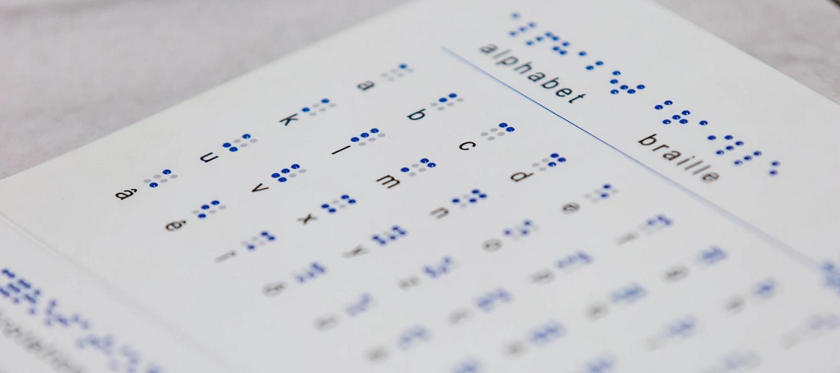Alphabet en braille