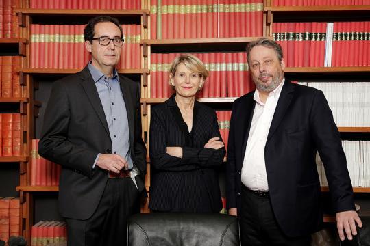 Marc Chaussidon, directeur de l'IPGP, Christine Clerici, présidente de Paris Diderot et Frédéric Dardel, président de Paris Descartes